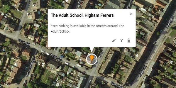 Map - Adult School, Higham Ferrers